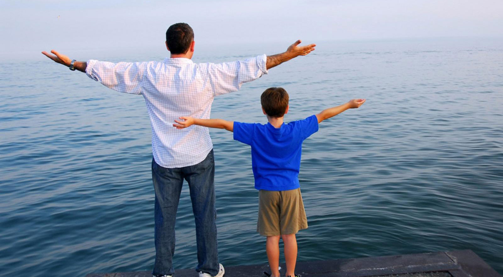 Father Son Arms Outstretched Third Talk Header